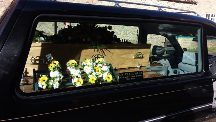 Funeral transport - hearse and coffin