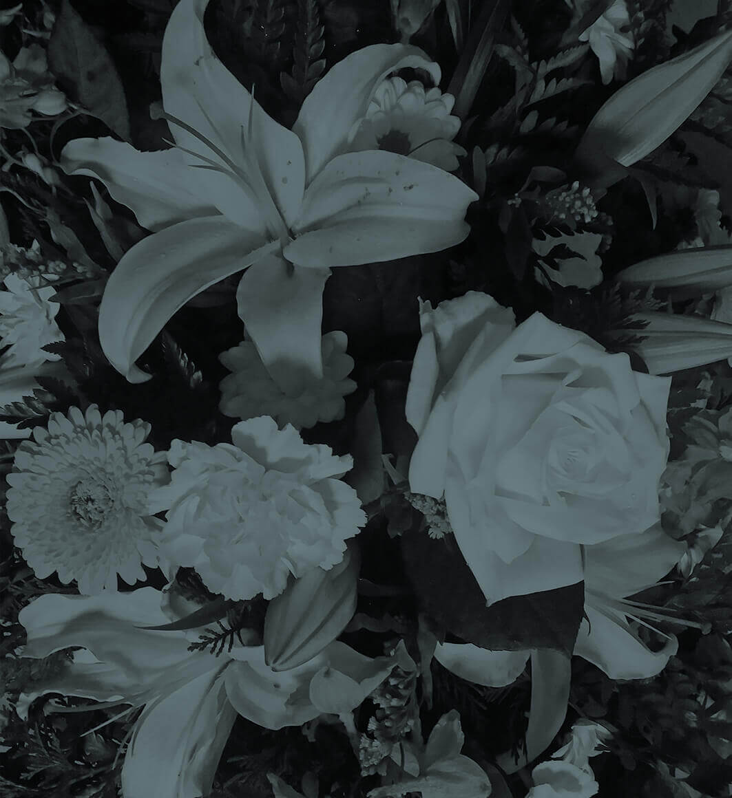 Respecting Your Wishes - black and white photo of lilies and roses