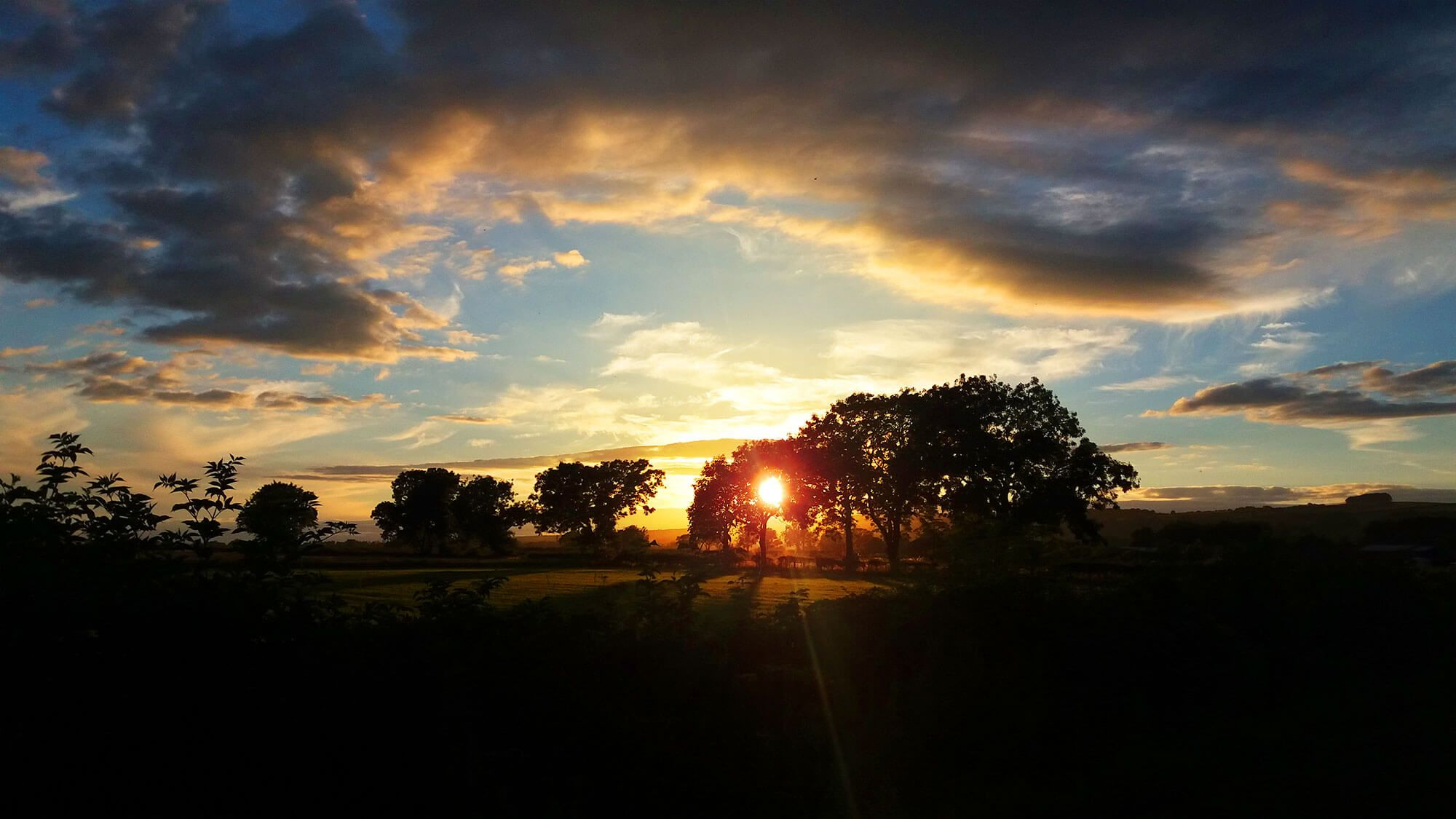 Sunset near Pickering